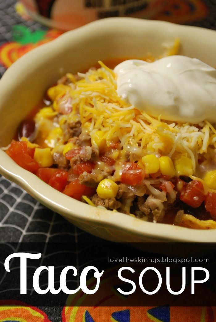 Super easy taco soup. Perfect dinner for tonight!