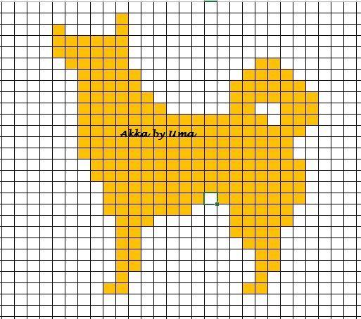 Pystykorva neulekuvio dog knitting chart http://www.ravelry.com/projects/Norrakka/pystykorva-nimelta-akka