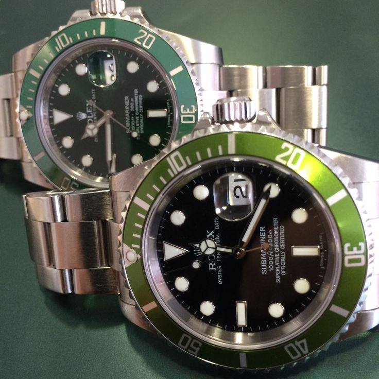 #BrothersInArms The Rolex Anniversary Submariner http://www.globalwatchshop.co.uk/rolex-submariner-50th-anniversary-green-bezel-16610.html?utm_content=bufferd6c89&utm_medium=social&utm_source=pinterest.com&utm_campaign=buffer Happy 50th! Available now