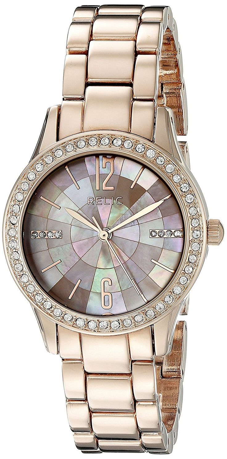 Relic Women's ZR12174 Stacy Analog Display Analog Quartz Rose Gold Watch * For more information, visit image link.