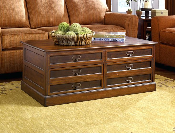 Dark Wood Coffee Table With Drawers: Where To Buy The Best One