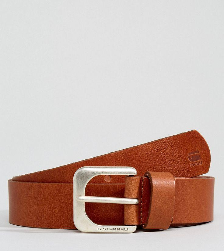 G-Star Leather Belt In Tan - Tan