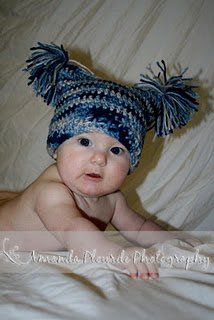 Baby Hat with Pom Poms