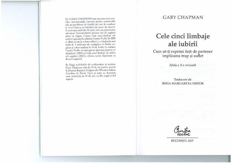 Cele 5 limbaje ale iubirii - Gary Chapman[Carti Pdf Gratuite tk] | Oana Gabriela - Academia.edu