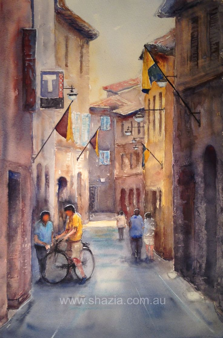 Watercolour, Bevagna,Italy.
