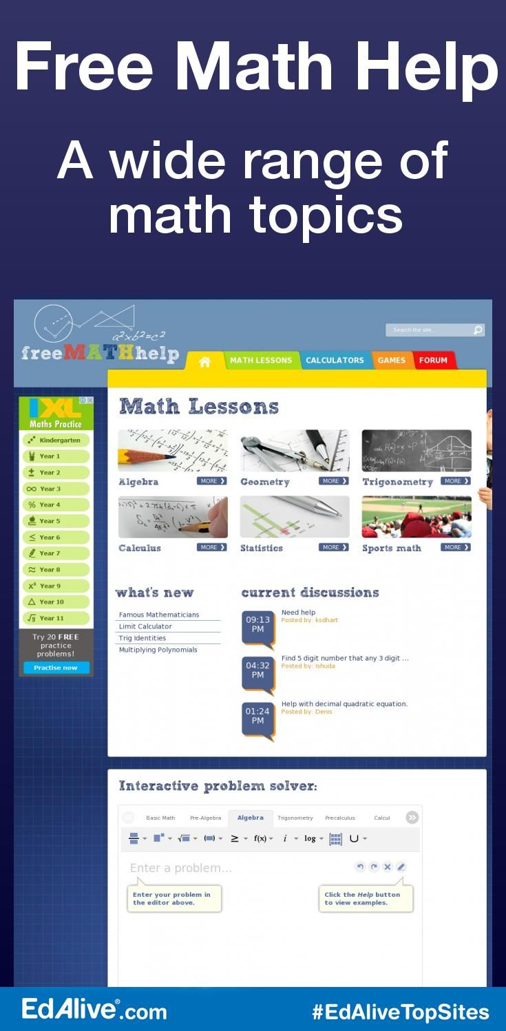 17 meilleures idées à propos de algebra calculator sur math help a wide range of math topics math lessons math