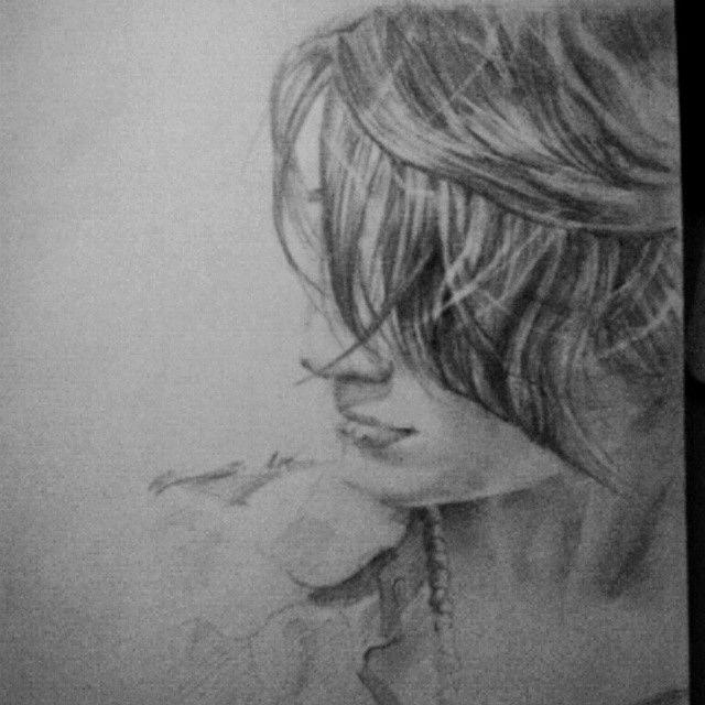2B pencil portrait