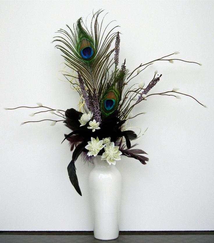 Floral Arrangements Peacock Arrangement White By