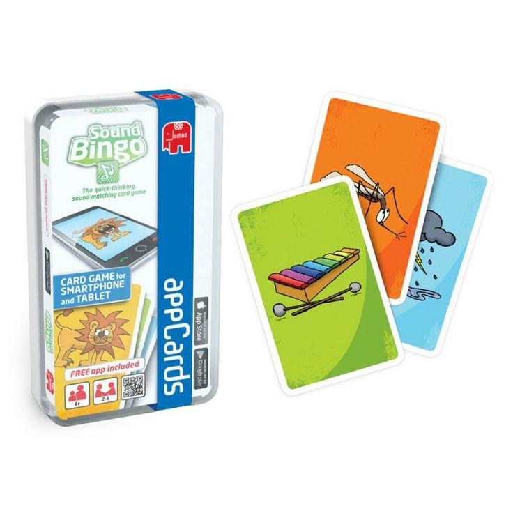 JUMBO Sound Bingo (iOS, Android) -  Gra interaktywnagra bazująca na zasadach zwykłego Bingo. Zestaw składa się z 32 kart do gry appCards oraz aplikacji do pobrania Sound Bingo odpowiedniej dla systemów Apple oraz Android.