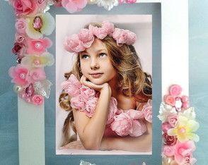 Porta Retrato Flores e Pedrarias -25 x20