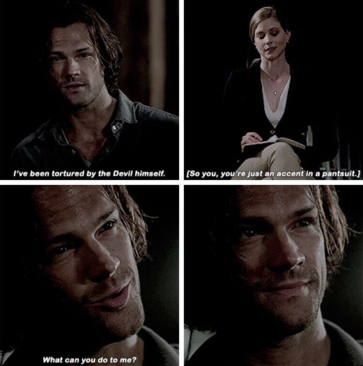 Remember that Sam Winchester can be freaking scary when he's pissed.