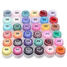 Venda quente Popular Pura Cores Gel Unha Polonês UV Unhas Art DIY Decoração de Unhas para Manicure 36 Potes de cor Rápida entrega alishoppbrasil