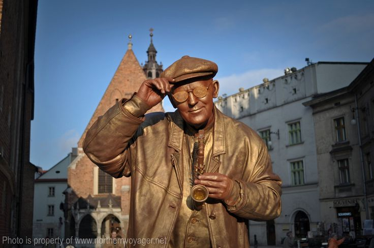 Poland Krakow Street Performer Travel Photography Image Life Copper Entertainer www.northernvoyager.net Photo by Lee Mailer