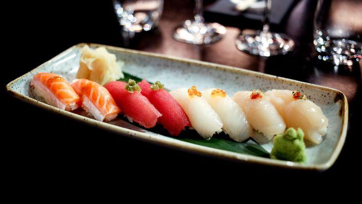 Rågod sushi i kjelleren på Paléet