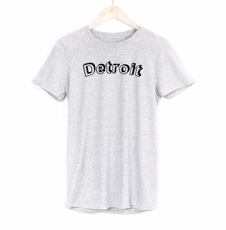 Detroit Mens T Shirt Usa Us Michigan Travel Slogan City Trend Top Tees Gift Idea #Get2wear #detroit #usa #america
