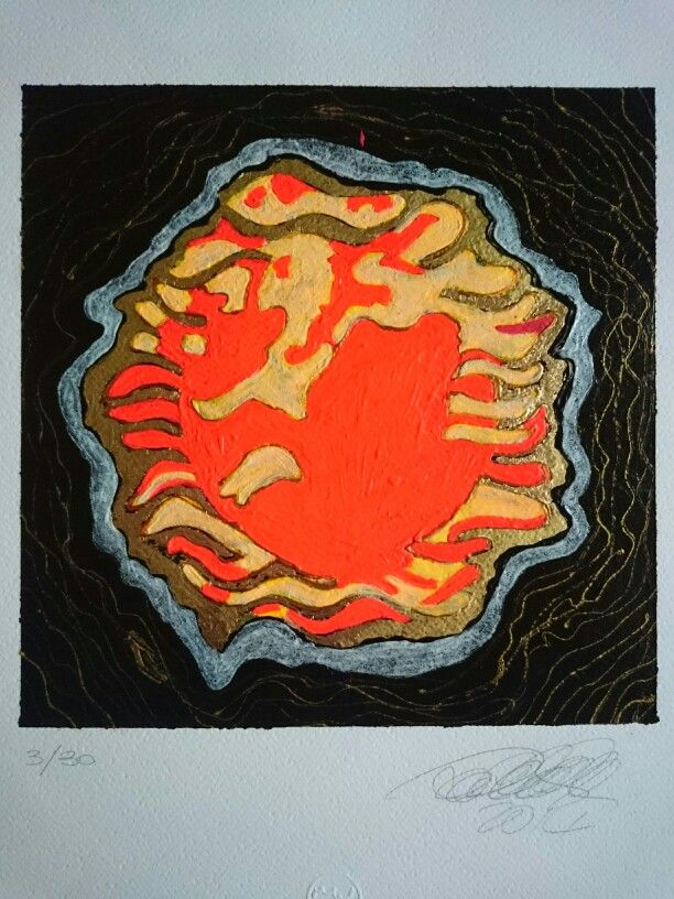 Title: Akhenaton Artist: LeoNilde Carabba Year: 2015 Techinque: acrylic fluorescent