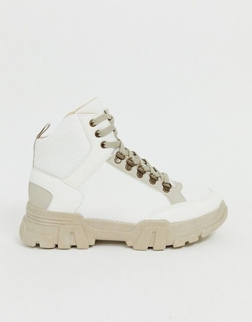f247d514fb8ff DESIGN Darkness chunky hiker sneaker boots in off white in 2019 ...