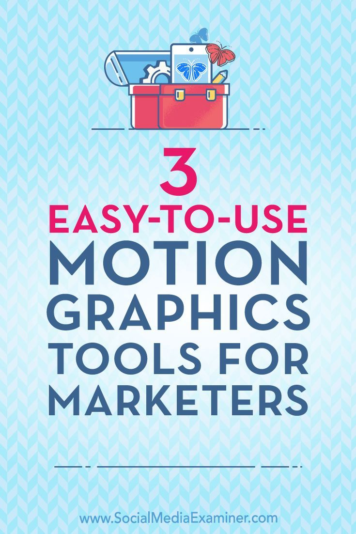Want to use more animated visuals in your marketing?  Looking for affordable tools to create your own animated graphics?  In this article, you'll find three tools that create animated motion graphics for social media ads and posts.  #Visualmarketing #SocialMedia #SocialMediaExaminer