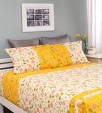 Buy Raymond Home Yellow Cotton Queen Size Silverleaf Bed Sheet with 2 Pillow Covers  Online: Shop from wide range of Bed