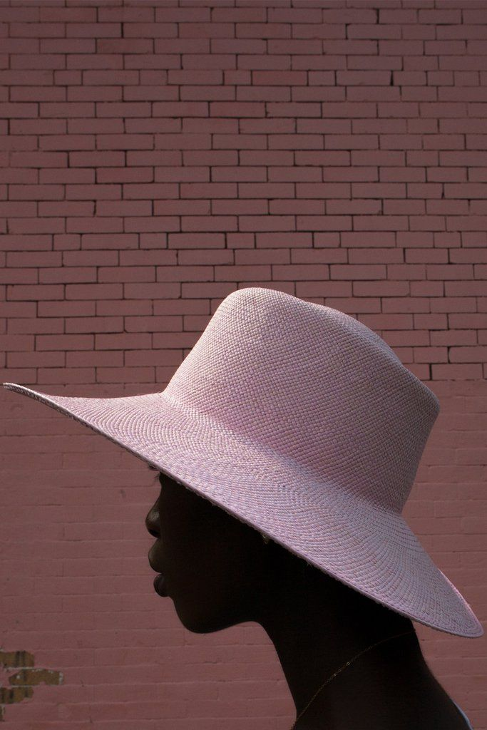 Ryan Roche pink straw hat