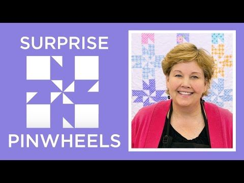 """VIDEO tutorial - """"Surprise Pinwheels"""" block - posted by Missouri Star Quilt Company on YouTube"""