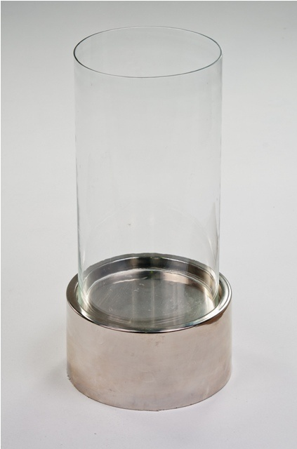 www.eventsandtents.co.za  Plain Nickel hurricane lamp