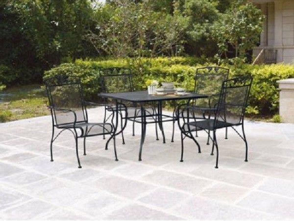 Patio Dining Set 5 Piece Iron Outside Poolside Furniture Backyard Conversation #Mainstays