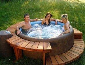 portable-spa-hot-tub, love this surround