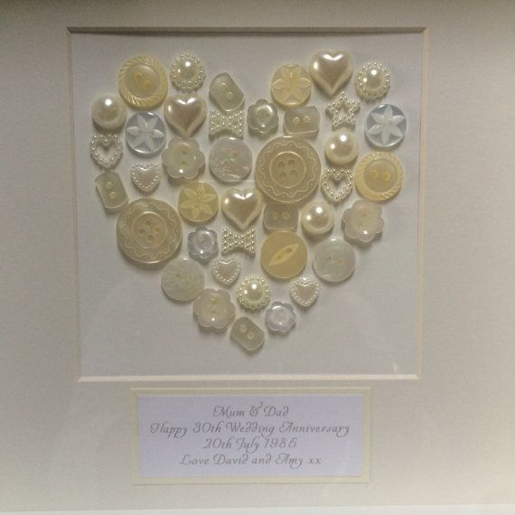 Pearl 30th Anniversary Gift Frame By Dearamygifts On Etsy