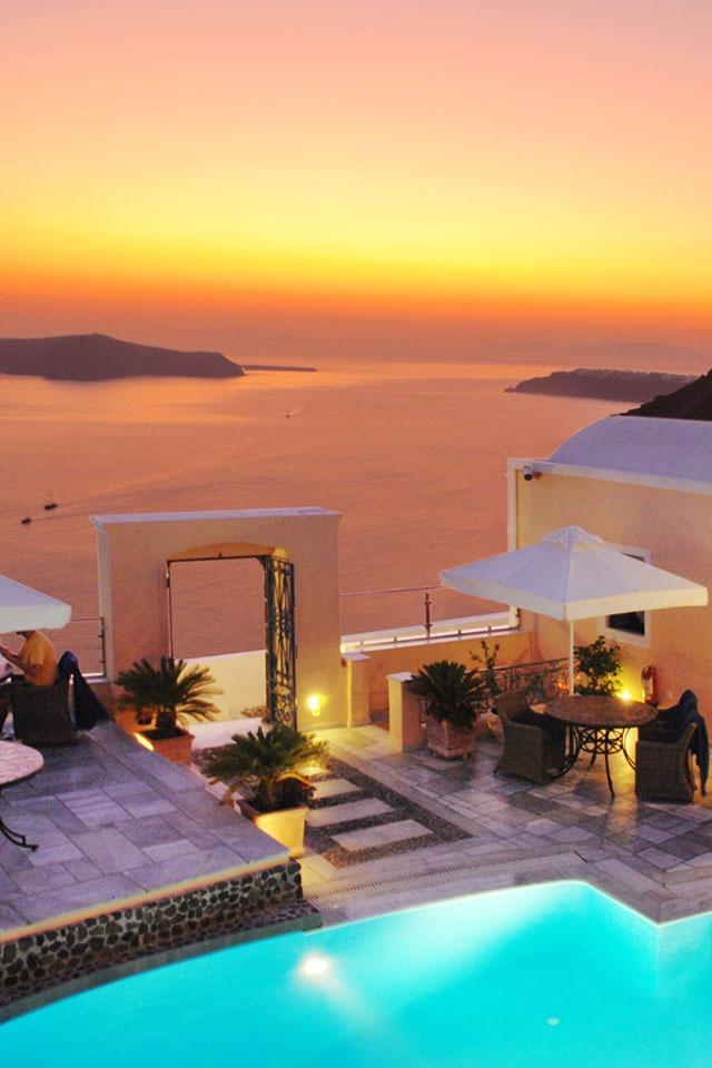 Golden Sunset over Fira, Santorini