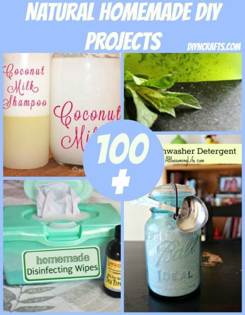 """100+ Homemade Projects. To check out. Links to other sites. *Note to self: Some mis-information/bad combos, like """"borax is non toxic"""", or mixing castile soap with vinegar, etc...."""