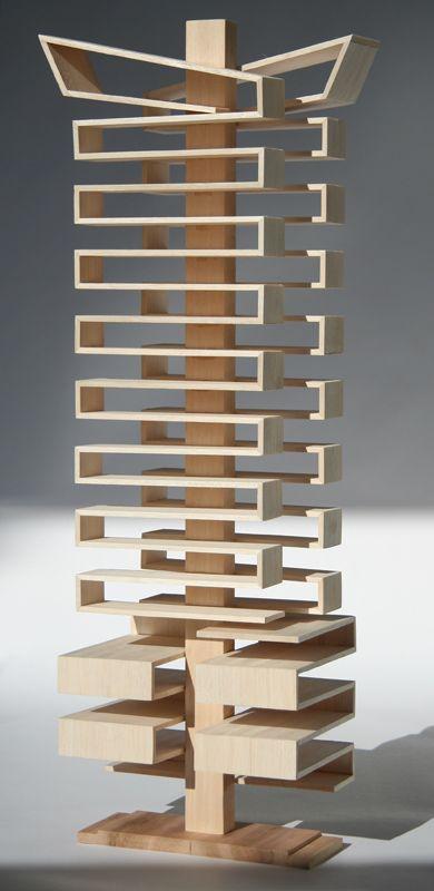 Architect's Timber Model, 7 Yarra, Concept Model, Bird de la Coeur Architects