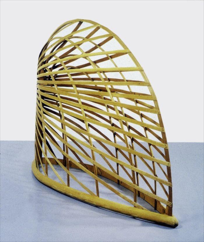 "Martin Puryear [USA] (b 1941) ~ ""Bower"", 1980. Sitka spruce and pine (163 x 241 x 68 cm). | #art #sculpture #conceptualart #abstract #minimalart"