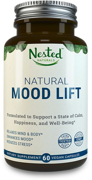 Natural 5HTP Mood Lift reduces anxiety, relaxes the mind, and boosts serotonin - Made with 5-HTP, Magnesium, L-Methionine, Vitamin B5 & B6 - Vegan, Non-GMO