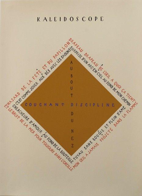 Vicente Huidobro: Kaleidoscope. Poemas pintados.