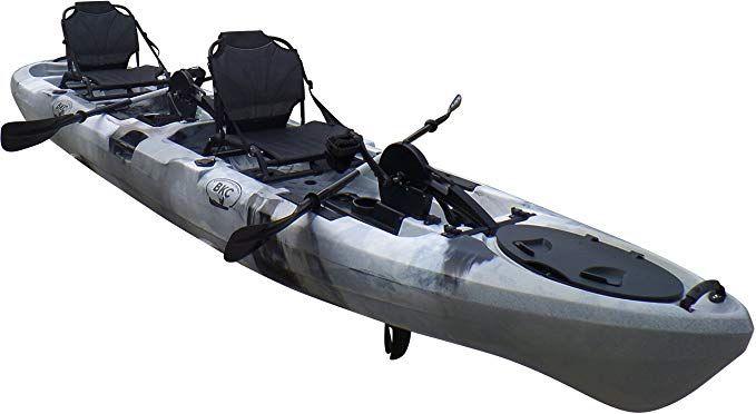 Brooklyn Kayak Company Bkc Uh Pk14 14 Foot Sit On Top Tandem Fishing Pedal Drive Kayak Upright Seats Included Grey Camo E Kayaking Pedal Kayak Jackson Kayak