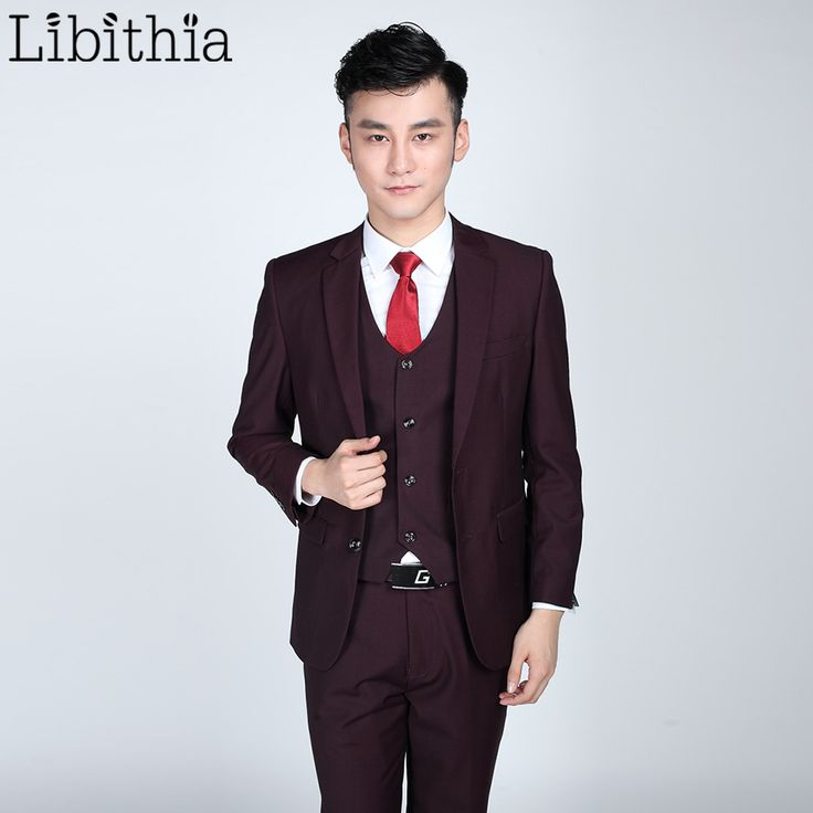 Jacket pant tie Mens Formal Suits For Men Costume Homme Slim One/Two Buttons Clothes Blazer For Wedding Masculino Fuchsia S314 ** AliExpress Affiliate's buyable pin. Click the image for detailed description on www.aliexpress.com #Mensblazers
