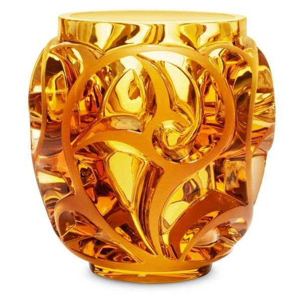 Lalique Tourbillons crystal vase (7 850 AUD) ❤ liked on Polyvore featuring home, home decor, vases, lalique vase, crystal glass vase, swirl vase, crystal vase and lalique