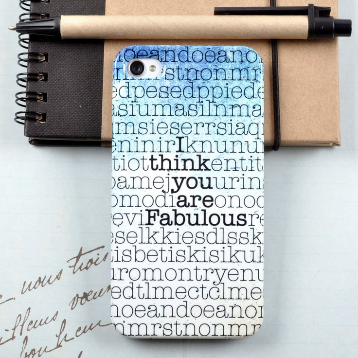 Personalised Hidden Message case for iPhone and Samsung