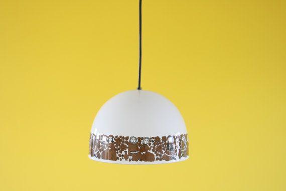 Kaj Franck for Fog & Morup Lamp Enamel arabia finland heart white lights folklore Design