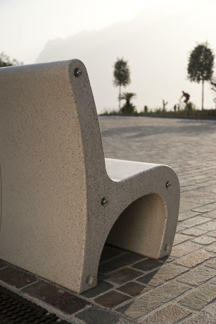 GEA bench with sunset in #Torbole. #Bellitalia street furniture
