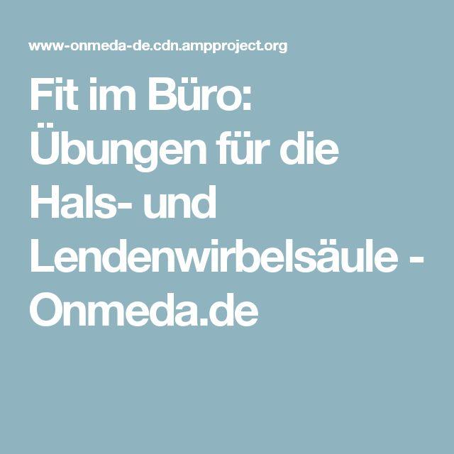 Fit im Büro: Übungen für die Hals- und Lendenwirbelsäule - Onmeda.de