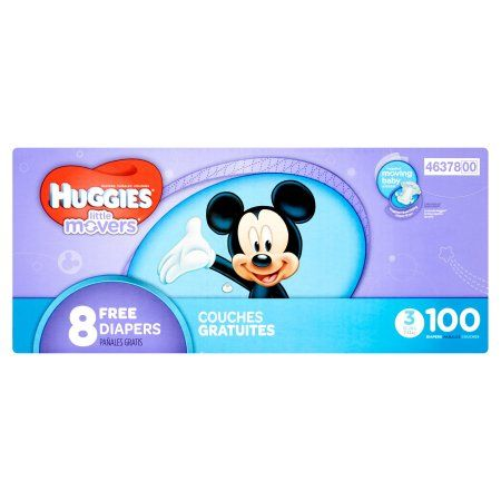Huggies Little Movers Diapers, Size 3, 100 count