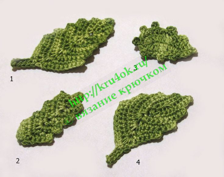 More crochet leaves. Diagrams only.