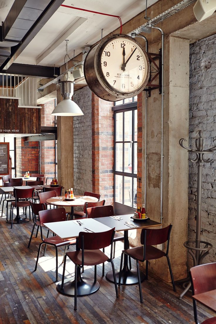Giant wall mounted industrial double sided clock — Byron, Leeds