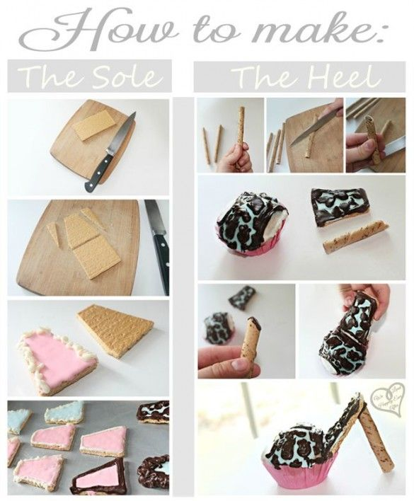 How To Make High Heel Cupcake Toppers, Edible, and so cute!