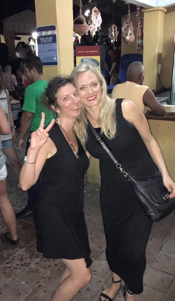 Night out with student Lyndsay at Casa de la Musica Trinidad Cuba