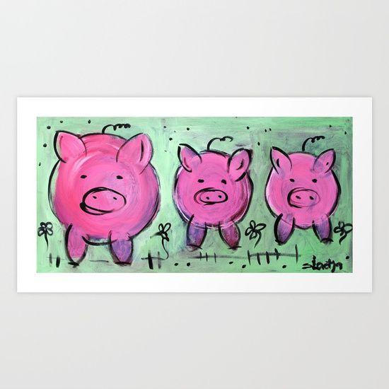 Mama pig art print by Sladja