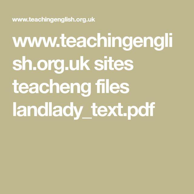 51 best great short fiction images on pinterest short stories teachingenglish sites teacheng files landladytextpdf fandeluxe Choice Image
