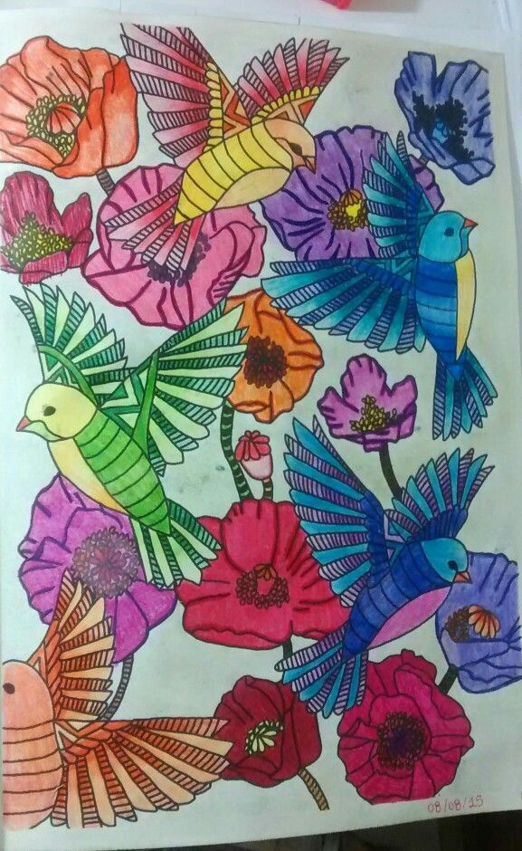 """Décima nona ilustração de """" O livro anti-insônia"""". The can't Sleep Colouring Book ( Creative Colouring for Grown-Ups."""